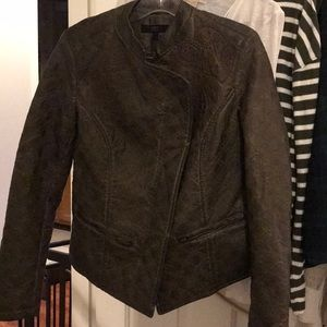 ABS Brown Leather Patterned Jacket